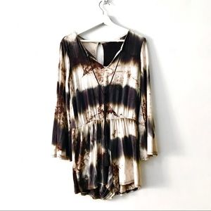 1.4.3. Story by Line Up Boho Tie Die Romper